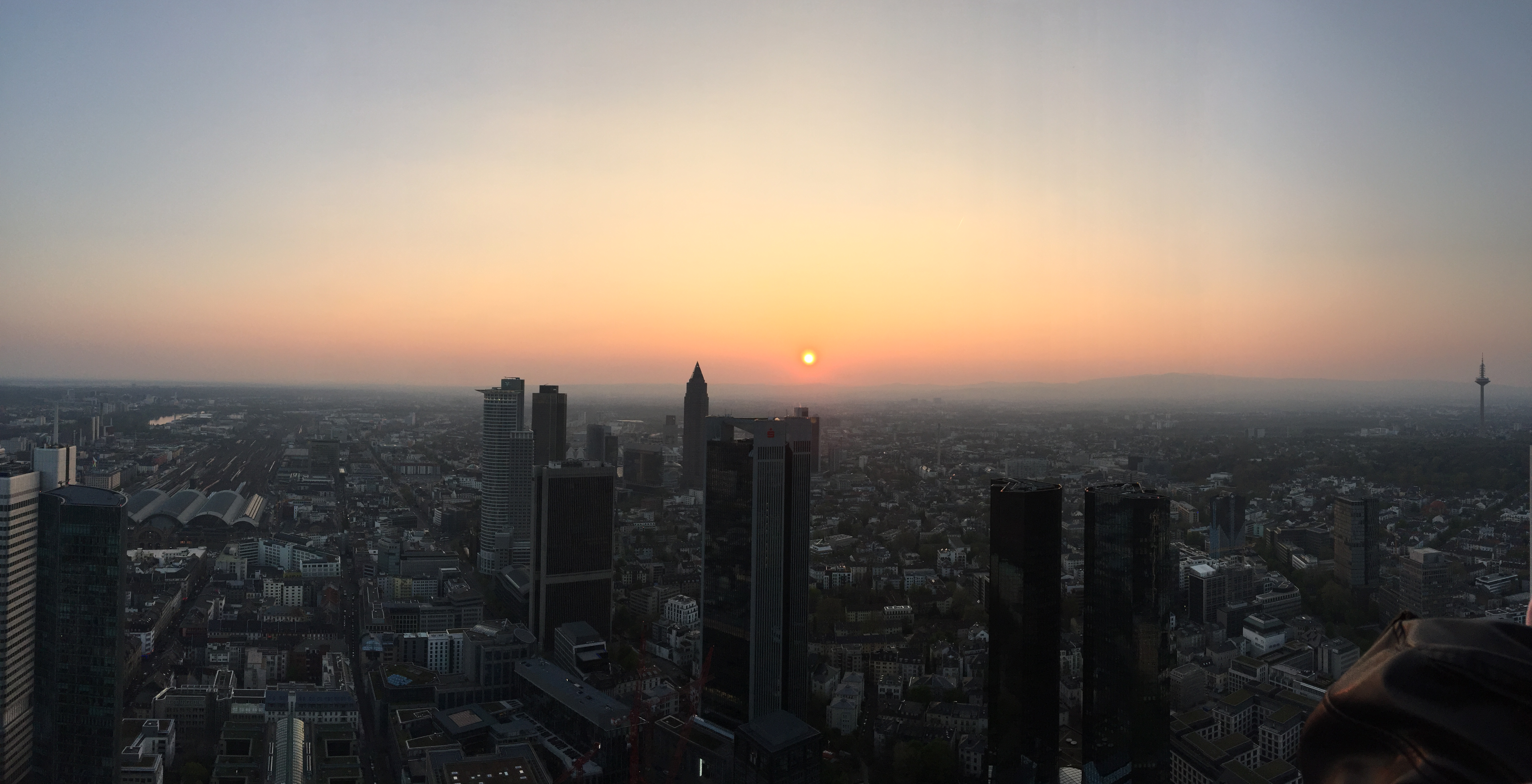 Frankfurt View From Main Tower