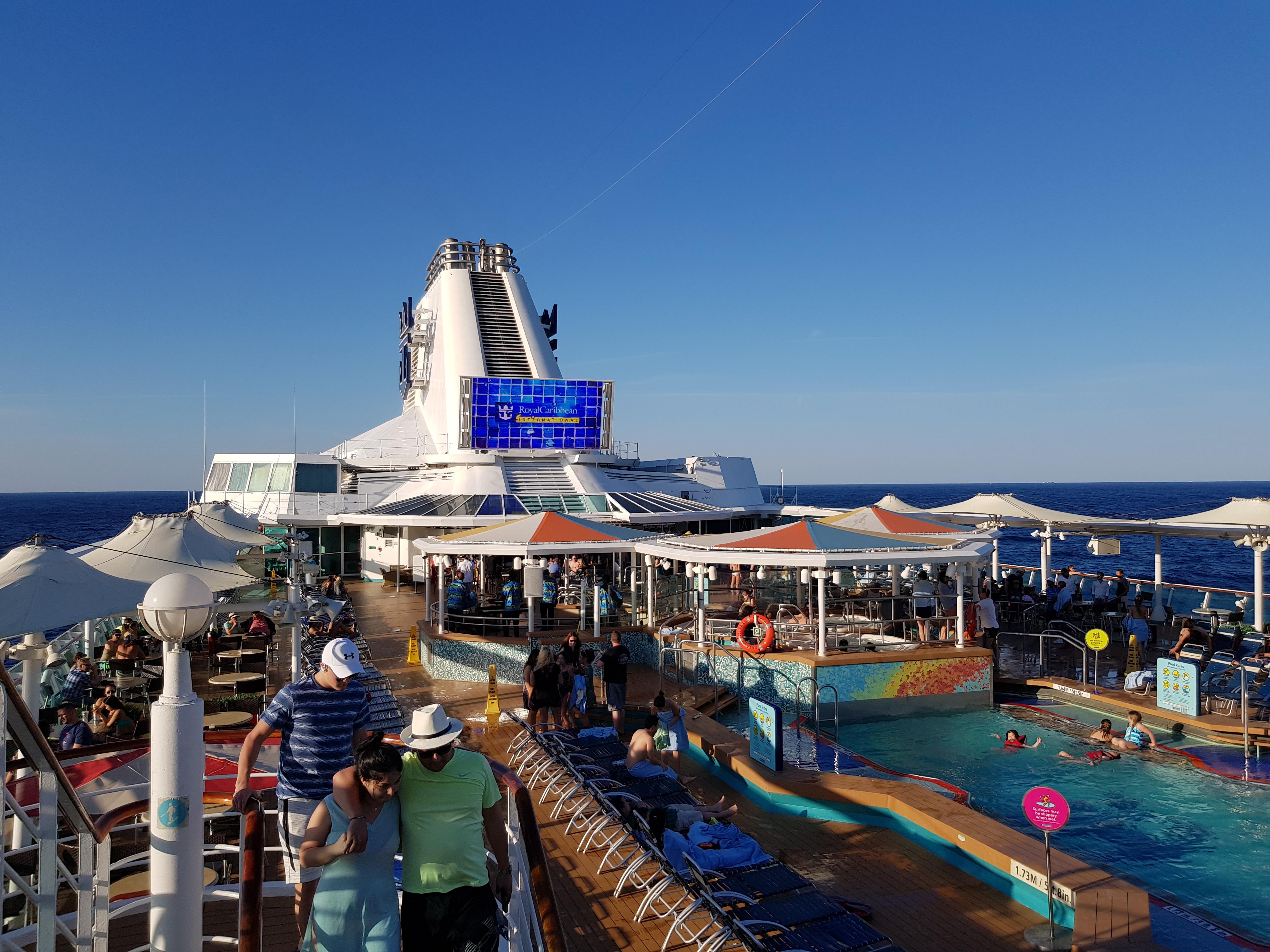 Empress of the Seas Pool Deck